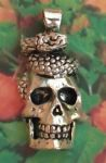 Skull And Snake Jewelry Pendant