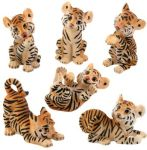 Tiger Cub Figurines (Set of 6)