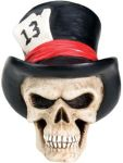 Top Hat Skull Figurine