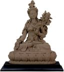 White Tara Statue - Clay Finish