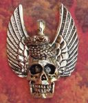 Winged Snake Skull Jewelry Pendant